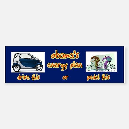 """Obama's Energy Plan"" Bumper Bumper Bumper Sticker"
