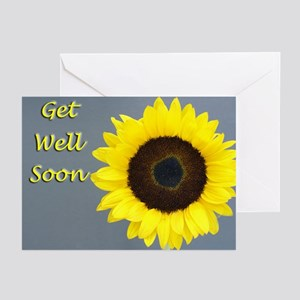 Sunflower Get Well Cards (Pk of 20)