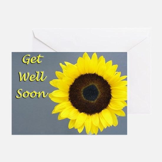Sunflower Get Well Cards (Pk of 20)