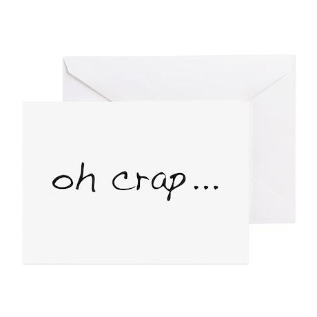 Oh Crap Greeting Cards (Pk of 10)