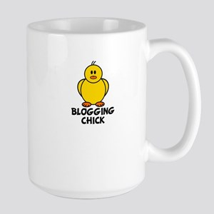 Blogging Chick Large Mug