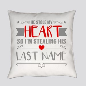 Funny Red Heart Stealing His Last Everyday Pillow