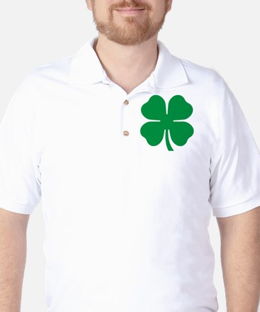Four Leaf Clover Golf Shirt