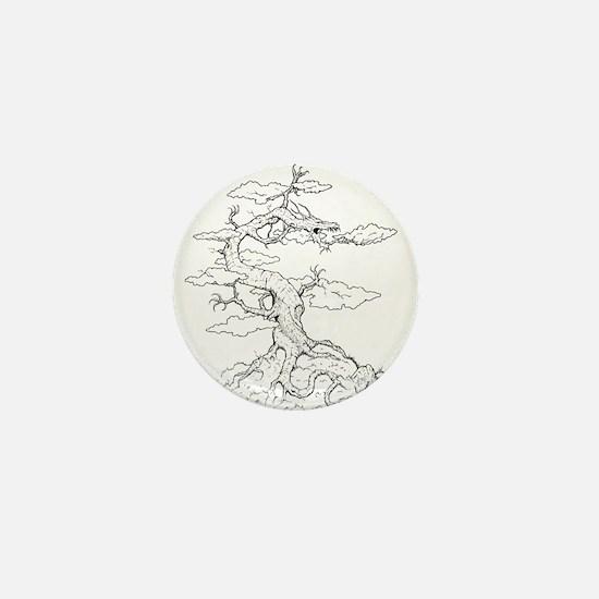Ink Dragon Tree Mini Button