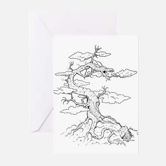 Ink Dragon Tree Greeting Cards (Pk of 10)