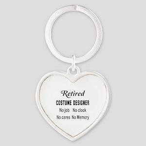 Retired Costume designer Heart Keychain