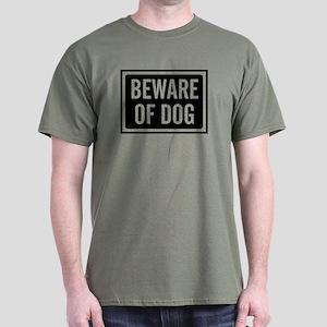 Beware Dog Dark T-Shirt