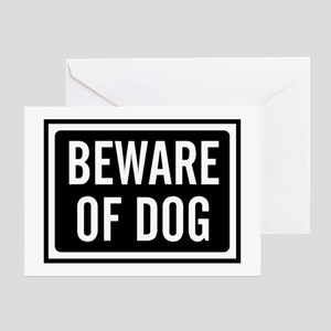 Beware Dog Greeting Card