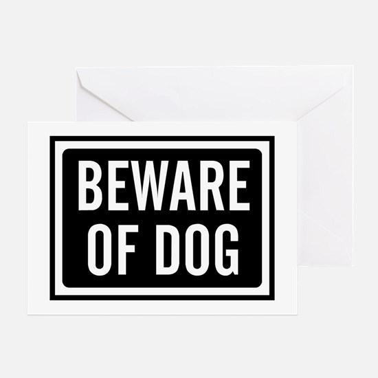 Beware Dog Greeting Card