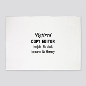 Retired Copy editor 5'x7'Area Rug