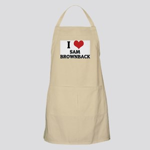 I Love Sam Brownback BBQ Apron