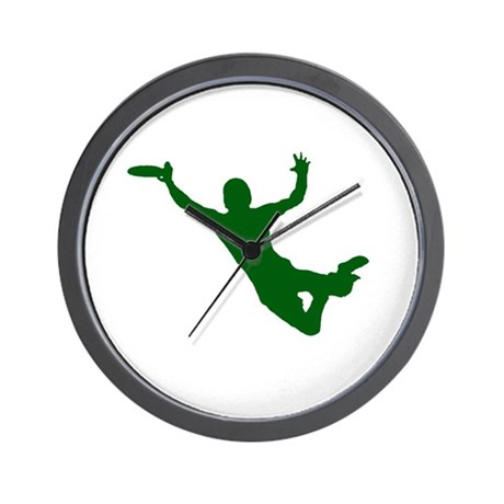 GREEN DISC CATCH Wall Clock