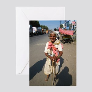 Greeting Card Indian Lady