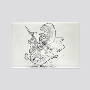 Ink Winged Hussar Rectangle Magnet