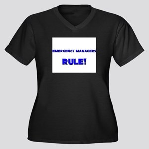Emergency Managers Rule! Women's Plus Size V-Neck