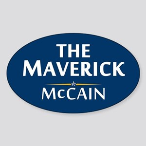 The Maverick - John McCain Oval Sticker