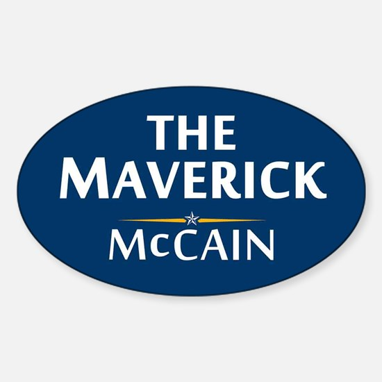 The Maverick - John McCain Oval Decal