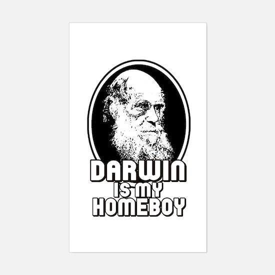 Darwin is my Homeboy Sticker (Rectangle)