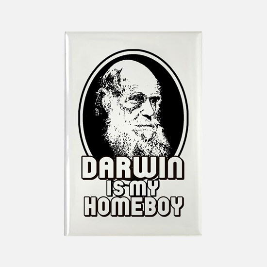 Darwin is my Homeboy Rectangle Magnet