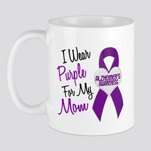 I Wear Purple For My Mom 18 (AD) Mug
