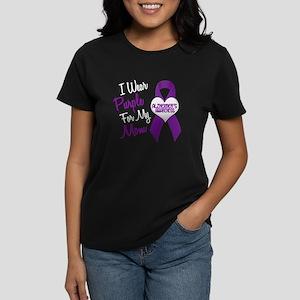 I Wear Purple For My Mom 18 (AD) Women's Dark T-Sh