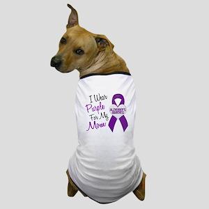 I Wear Purple For My Mom 18 (AD) Dog T-Shirt