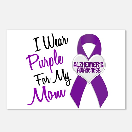I Wear Purple For My Mom 18 (AD) Postcards (Packag