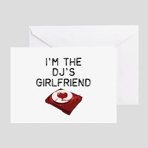 DJ's Girlfriend Greeting Card