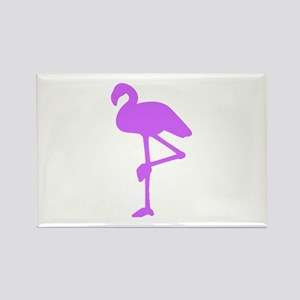 Purple Flamingo Rectangle Magnet