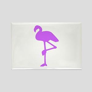 Purple Flamingo Rectangle Magnet