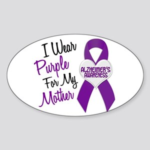 I Wear Purple For My Mother 18 (AD) Oval Sticker