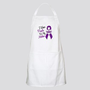 I Wear Purple For My Mother 18 (AD) BBQ Apron