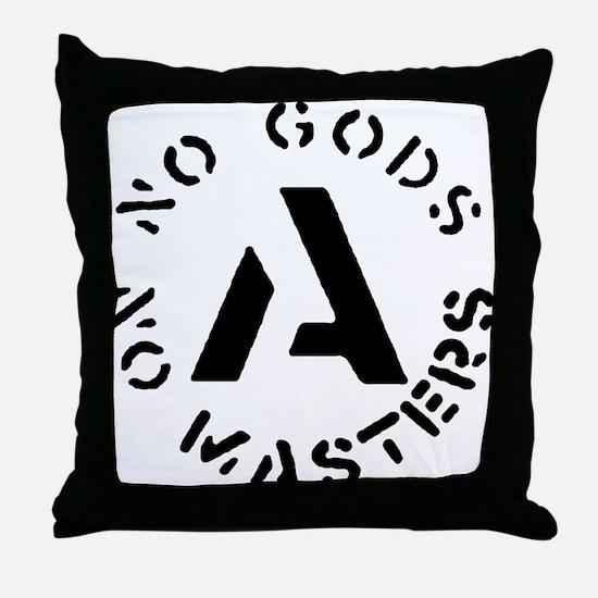 No Gods No Masters Throw Pillow