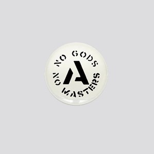 No Gods No Masters Mini Button