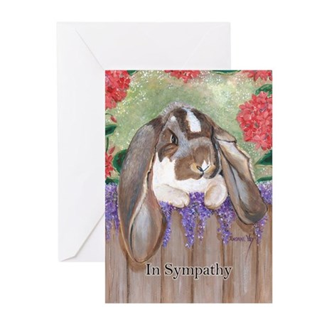 English Lop Rabbit Sympathy Cards (Pk of 10)