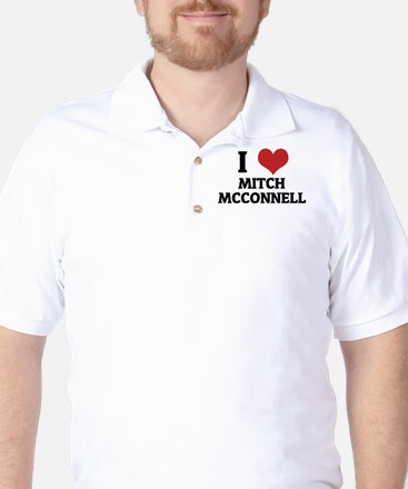 I Love Mitch McConnell Golf Shirt