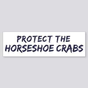 Protect the Horseshoe Crabs Bumper Sticker