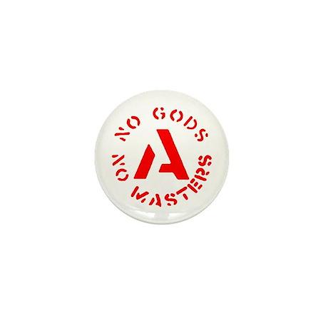 No Gods No Masters Mini Button