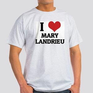 I Love Mary Landrieu Ash Grey T-Shirt