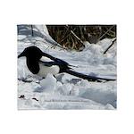 Black Billed Rocky Mountain Magpie Throw Blanket