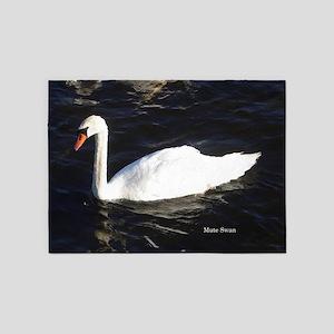 Mute Swan 5'x7'area Rug