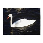Mute Swan 5'x7'area Rug