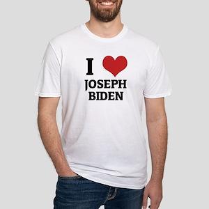 I Love Joseph Biden Fitted T-Shirt