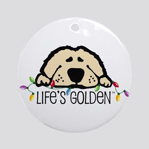 Life's Golden Christmas Keepsake (Round)