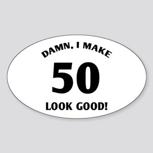 Sexy 50th Birthday Gift Oval Sticker