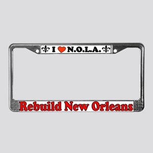 Luv New Orleans License Plate Frame