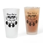 Bodybuilding Pump in the Night Drinking Glass