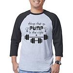 Bodybuilding Pump in the Night Mens Baseball Tee
