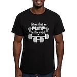 Bodybuilding Pump in t Men's Fitted T-Shirt (dark)