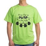 Bodybuilding Pump in the Night Green T-Shirt